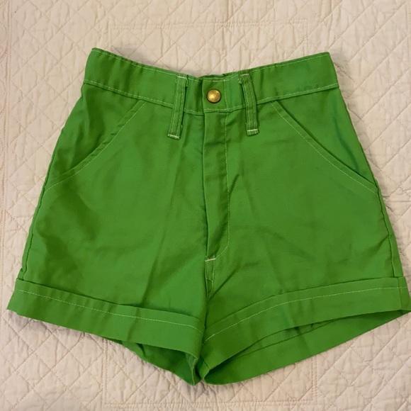 {VTG} Girltown Girls Green Shorts